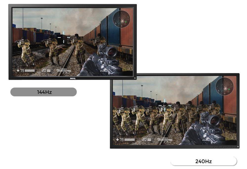 Comparacion 144hz a 240hz monitor gaming